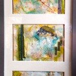 mud lake beauties, 3 greeting cards, framed SOLD