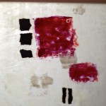 neighbourhood 10 inch by 10 inch mixed media and encaustic on rice paper $60